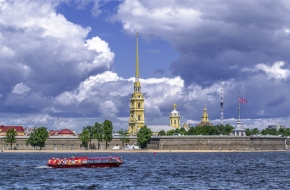Bank protection of Peter-and-Paul Fortress on Zayachy Island